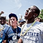Citizens of the 2010 Palmetto Boys State encampment chant their way to a spirit award.